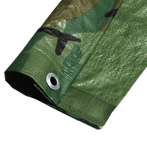 "10' X 10' Medium Duty  Camouflage Poly Tarp (Actual Size 9'6"" X 9'6"")"