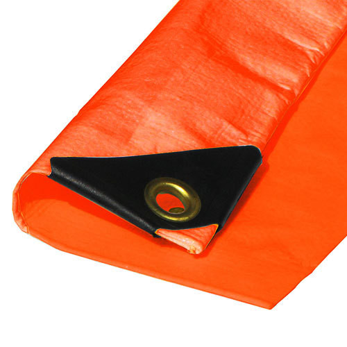 "10' X 10' Heavy Duty Orange Poly Tarp (Actual Size 9'6"" X 9'6"")"