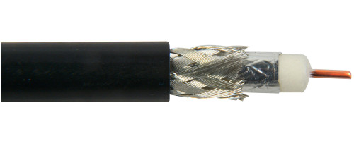 Belden 1694A CM Rated 3G-SDI RG6 Digital Coaxial Cable - Black