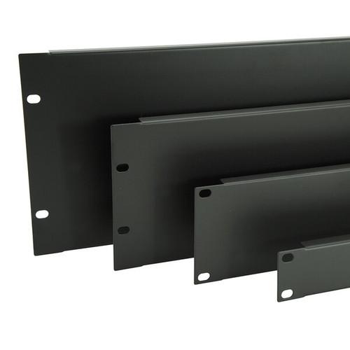 Flanged Steel Black Rack Panel (0.5U-6U)