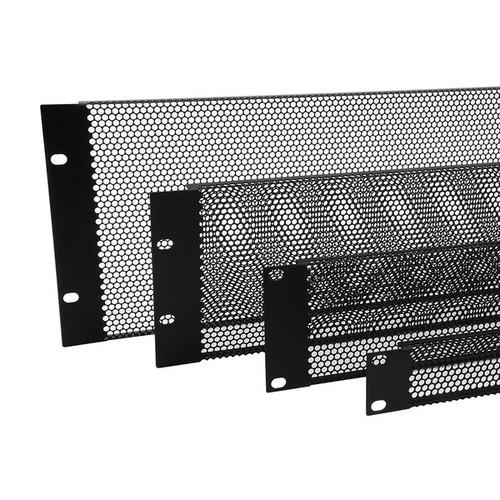 Flanged Steel Black Vent Panel (1U-3U)