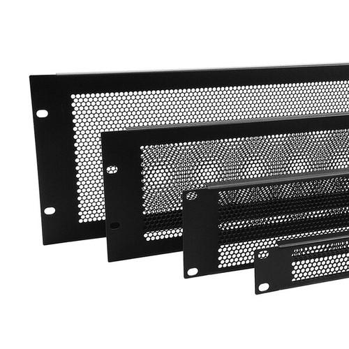 Flanged Steel Black HD Vent Panel (0.5U-4U)
