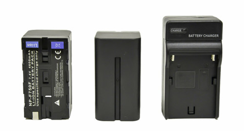 2x NP-F750 4600mAh L-Series Battery and Charger Kit