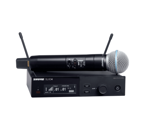 SLXD24/B58 Digital Wireless Handheld Microphone System with Beta 58A Capsule