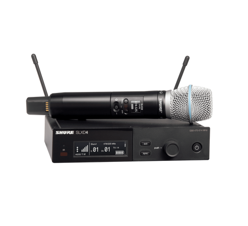 SLXD24/B87A Digital Wireless Handheld Microphone System with Beta 87A Capsule