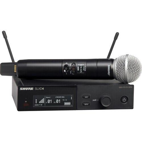 SLXD24/SM58 Digital Wireless Handheld Microphone System with SM58 Capsule