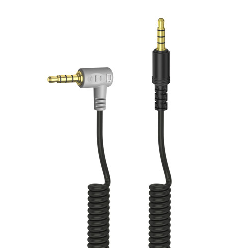 3.5m TRRS-TRRS Microphone Coiled Output Cable