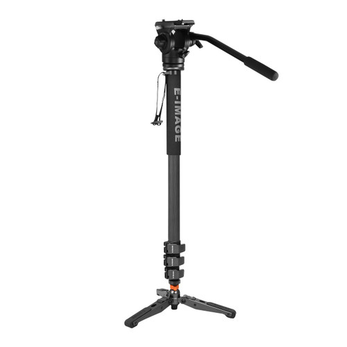 MC600+610FH 4 Stage Carbon Fiber Monopod w/Fluid Head