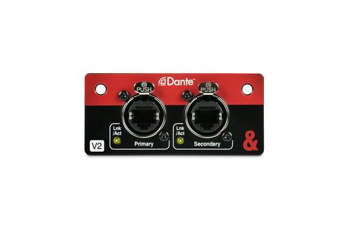 SQ Dante Module for SQ Mixers and AHM-64 Audio Processor