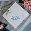 Something Blue Handkerchief embroidered with wedding year