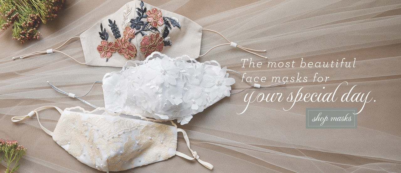 Bridal Masks for your wedding custom made by hand