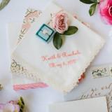 Embroidered Handkerchiefs for Wedding