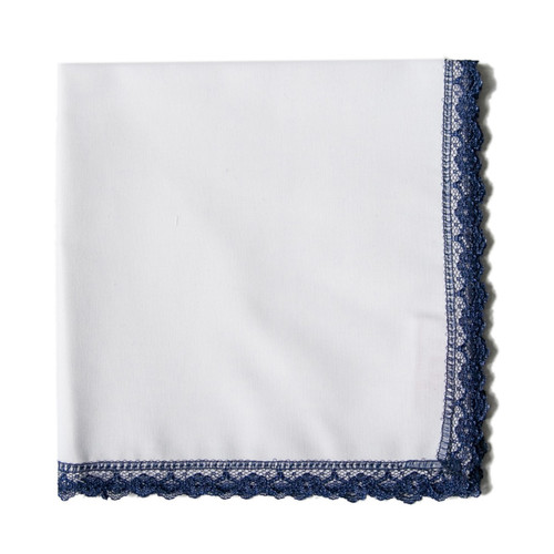 Navy Lace handkerchief