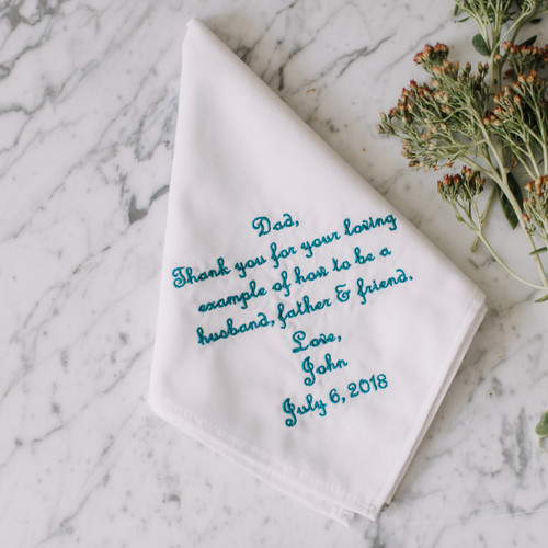 Father of the Groom handkerchief