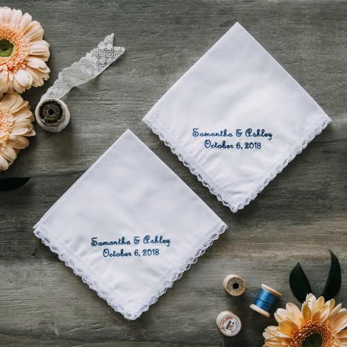 Her & Her Wedding Handkerchiefs