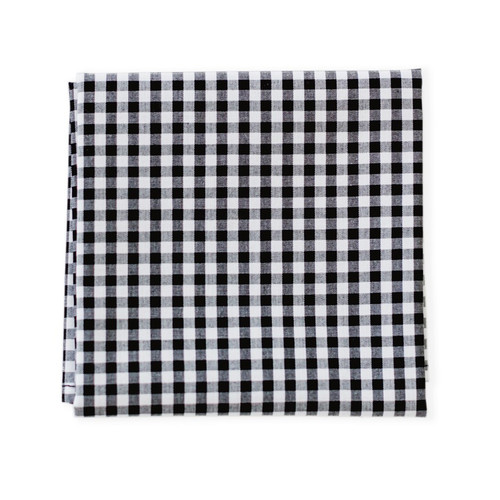 gingham black & white men's Hank