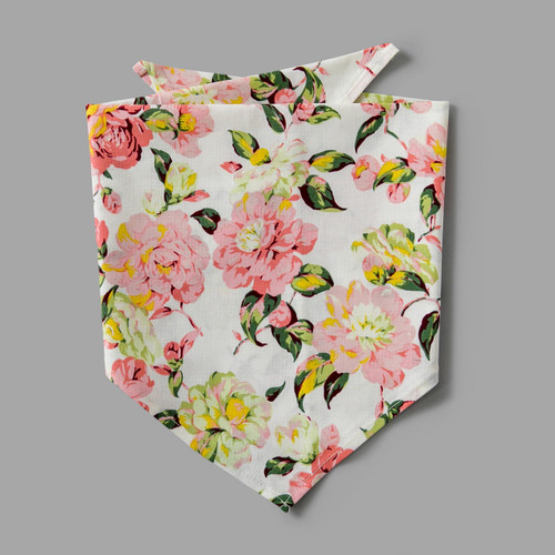 Pink floral pet-kerchief bandana