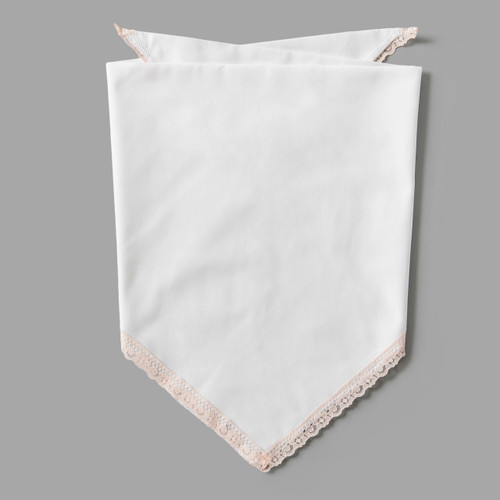 Blush Pink Lace Pet-kerchief Bandana