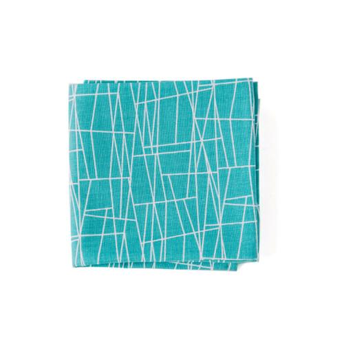 Turquoise men's handkerchief