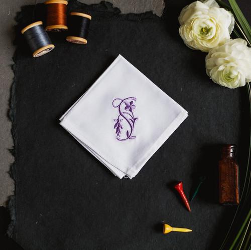 monogrammed handkerchief
