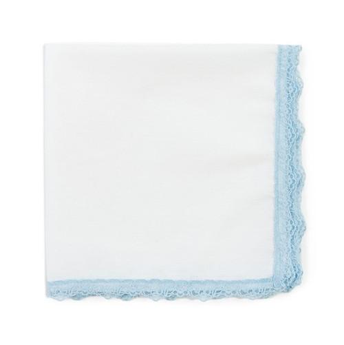 Something Blue Lace Wedding Hanky