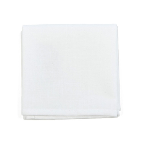 Classic white men's handkerchief cut from 100% premium cotton. Ready to be personalized.