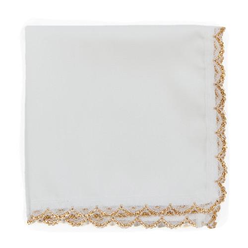 Gold Lace wedding handkerchief