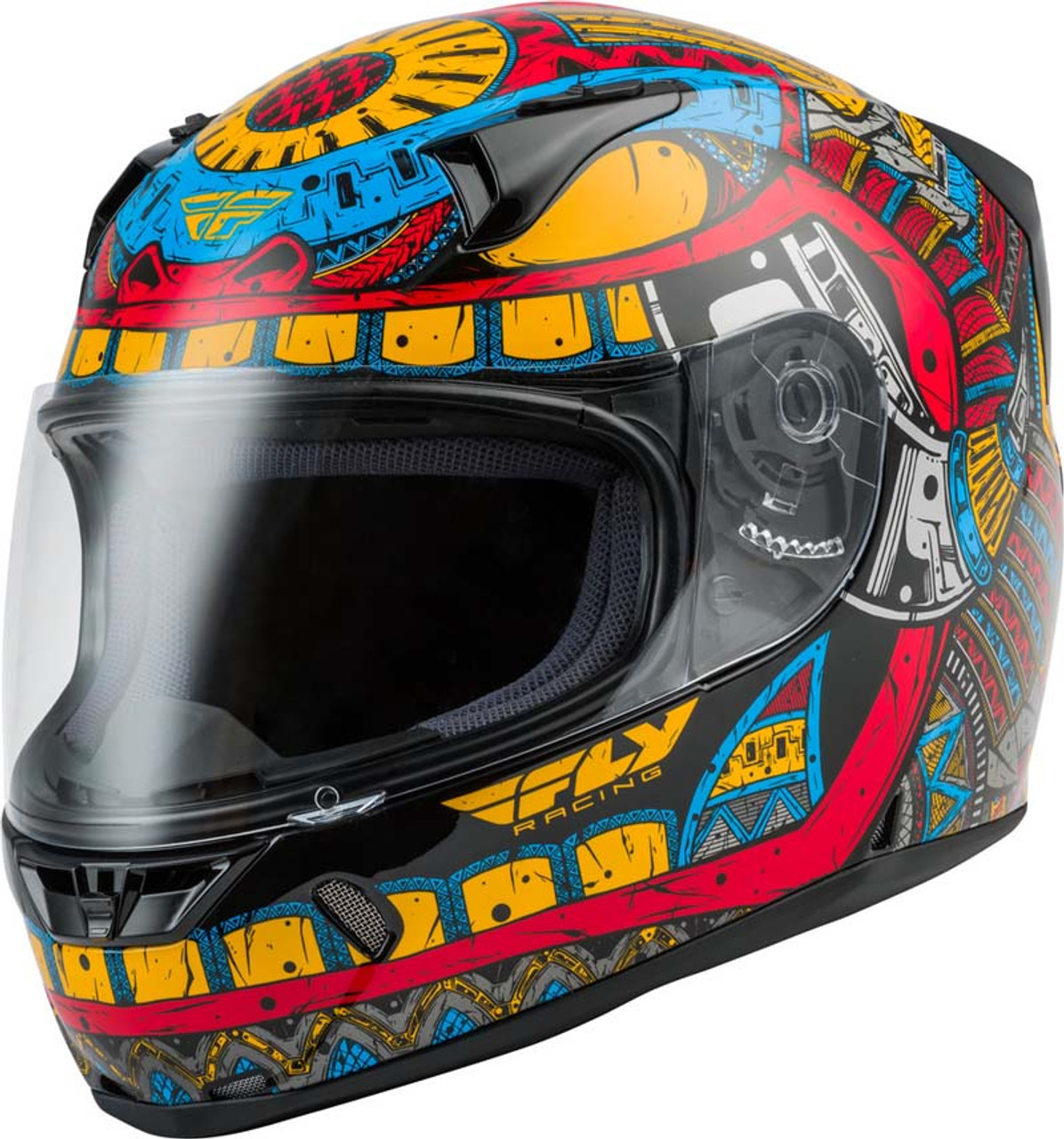 Size//Color Fly Racing Ink N Needle Revolt FS Full Face Street Motorcycle Helmet