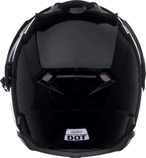 38716a1a Bell Mag-9 Sena Helmet Solid Gloss Black | XtremeHelmets.com