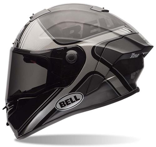 98ce8a33 Bell Pro Star Tracer Black/Silver Helmet | Xtremehelmets.com