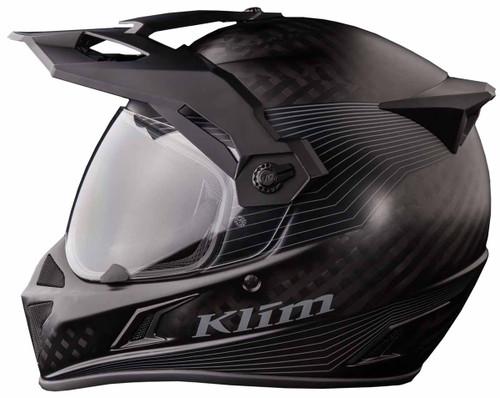 443b973f KLIM Krios Karbon Adventure Helmet with Transitions Shield Stealth ...