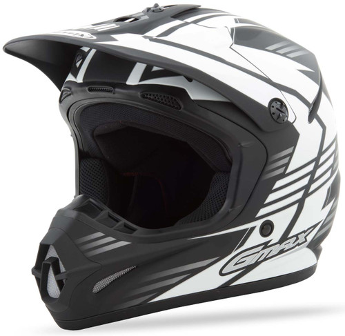 27bacb8d Gmax GM46.2X Race White Youth Helmet
