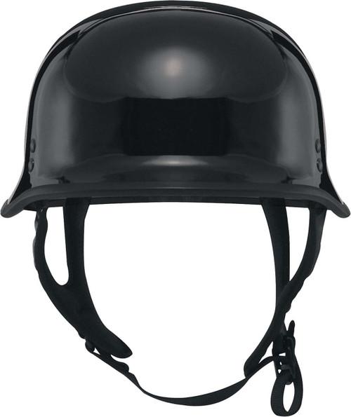 Fly Racing 9MM Half Helmet Solid Colors Flat Black F73-8221~9 5X