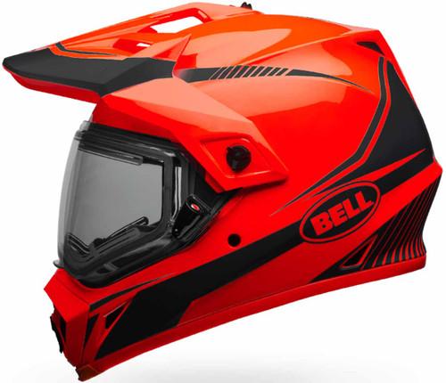Bell Mx 9 Adventure Snow Torch Helmet Orange Black Dual