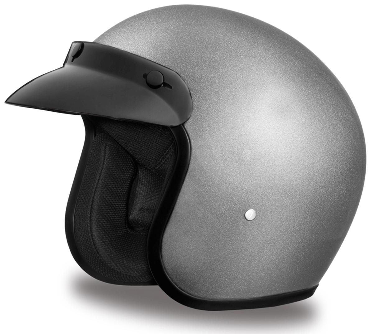 3/4 Motorcycle Helmet Flat Black Open Face Helmet DOT Daytona Cruiser ALL SIZES Auto Parts and Vehicles Motorcycle Helmets