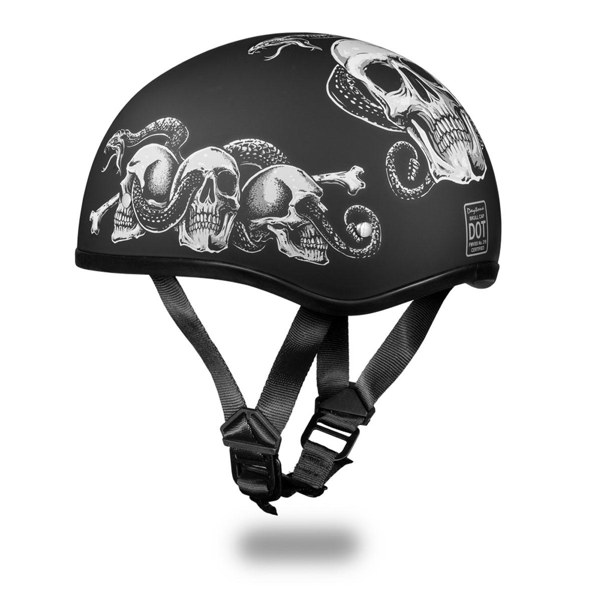 40102651829 Daytona Skull Cap Slim Line Helmet Snake Skulls. Previous