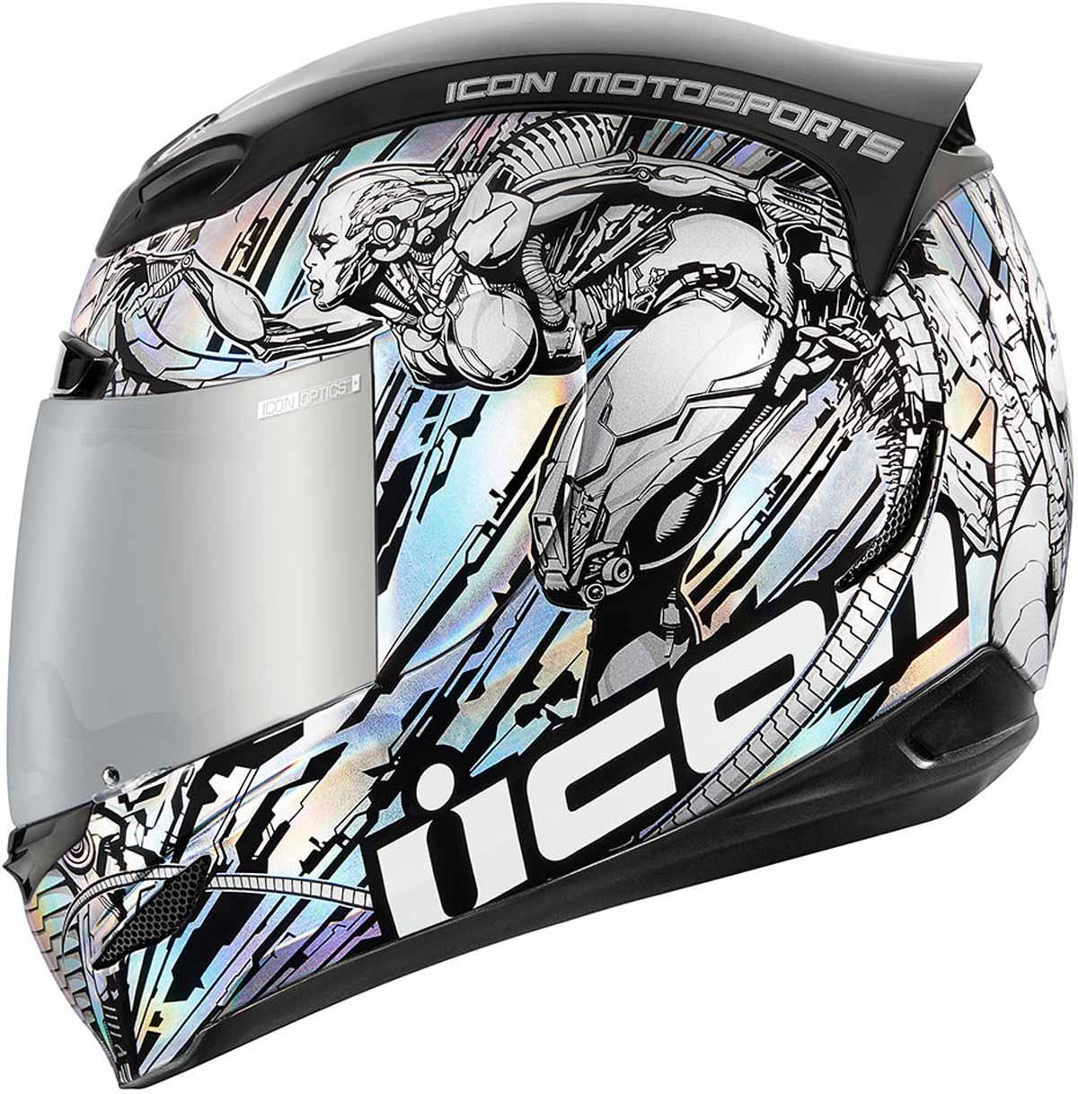 Icon Airmada Solid Rubatone Black Full Face Motorcycle Helmet FREE EXCHANGE