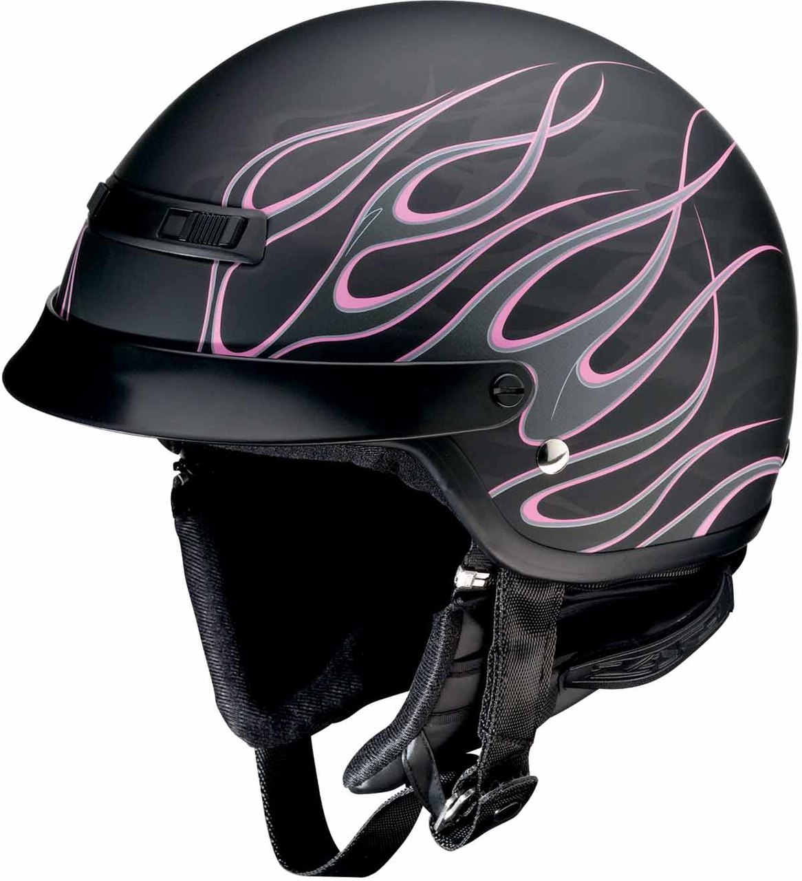 Z1R Nomad HELLFIRE Motorcycle Half Helmet Choose Size Black//Orange
