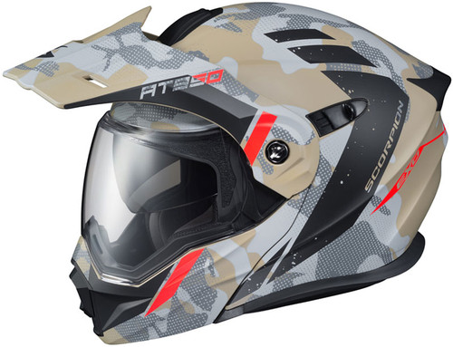 Dark Smoke//One Size Scorpion Replacement Shield EXO-AT950 Faceshields Street Racing Motorcycle Helmet Accessories