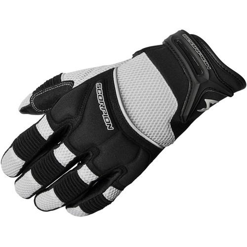 Scorpion Mens Black Skrub Textile Mesh Motorcycle Gloves