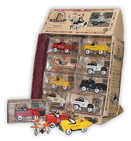 1/10-Scale Working Miniature Pedal Cars (Display Set of 16)