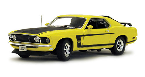 1/18-Scale Diecast 1969 Ford Mustang Boss 302 - Yellow