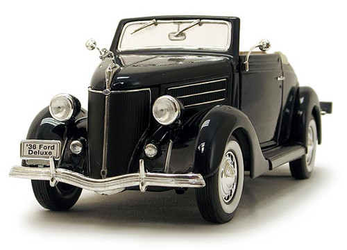 1/18-Scale Diecast 1936 Ford Deluxe Cabriolet - Blue