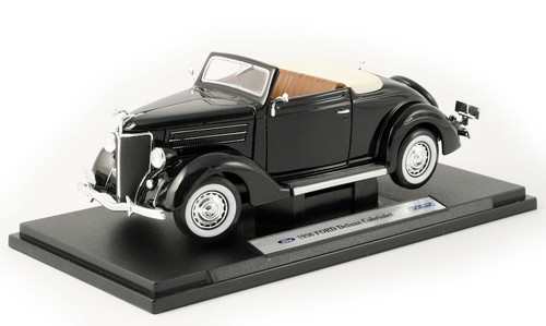 1/18-Scale Diecast 1936 Ford Deluxe Cabriolet - Black