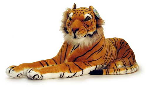 """Lying Tiger with Sound (34"""")"""