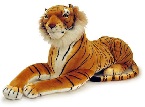 "Lying Plush Tiger Model ( 46"" ) with Sound"