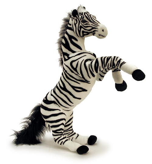 "Plush Zebra In Jumping Pose with Sound (28"")"