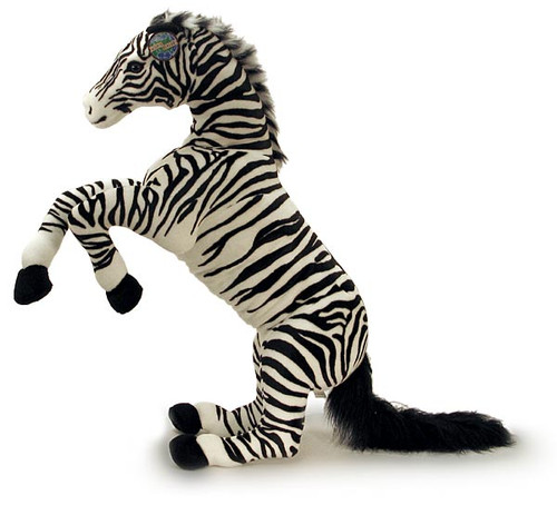 "Plush Zebra In Jumping Pose (42"")"