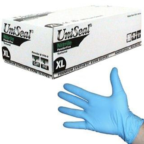 1000 UniSeal Nitrile Powder-Free Exam Gloves LARGE