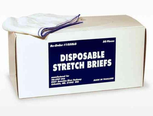 Disposable Mesh Briefs Underwear LARGE Dispenser Box/50